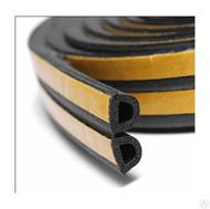 Уплотнитель D-образный 1м/пог. черный 9х8мм