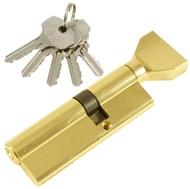 Цилиндровый механизм PLP NW35/55 английский ключ/вертушка PB Полированная латунь