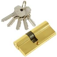 Цилиндровый механизм PLP N40/30 английский ключ/ключ PB Полированная латунь