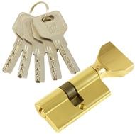 Цилиндровый механизм PLP CW60 перфо.ключ-вертушка PB Полированная латунь