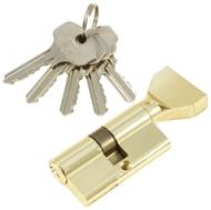 Цилиндровый механизм PLP NW60 английский ключ/вертушка PB Полированная латунь