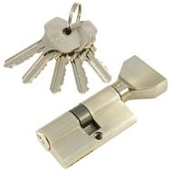 Цилиндровый механизм PLP NW60 английский ключ/вертушка SN Матовый никель