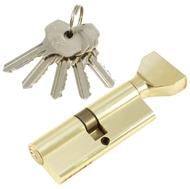Цилиндровый механизм PLP NW80 английский ключ/вертушка PB Полированная латунь