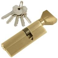 Цилиндровый механизм PLP NW35/55 английский ключ/вертушка SN Матовый никель