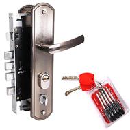 Замок врезной для китайских дверей MAXI Locks MLC68-51-U-SN комплект с ручками и ц.м. Матовый никель