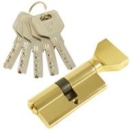 Цилиндровый механизм PLP CW70 перфо.ключ-вертушка PB Полированная латунь