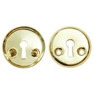 Накладка под флажковый ключ для финских дверей 3076 PB Полированная латунь