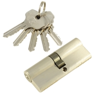 Цилиндровый механизм PLP N80 английский ключ/ключ SN Матовый никель