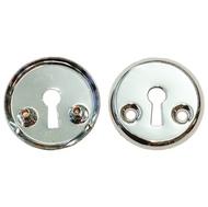Накладка под флажковый ключ для финских дверей 3076 CP Хром