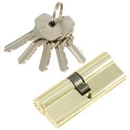 Цилиндровый механизм PLP N80 английский ключ/ключ PB Полированная латунь