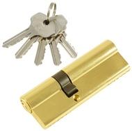 Цилиндровый механизм PLP N55/35 английский ключ/ключ PB Полированная латунь