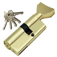 Цилиндровый механизм PLP NW30/40 английский ключ/вертушка PB Полированная латунь