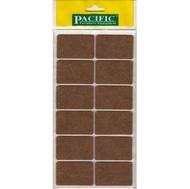 Войлочные накладки квадратные PC6055 BR для мебельных ножек 35*55мм