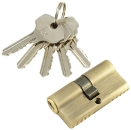 Цилиндровый механизм PLP N60 английский ключ/ключ AB Бронза