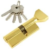 Цилиндровый механизм PLP NW35/45 английский ключ/вертушка PB Полированная латунь