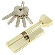Цилиндровый механизм PLP NW100 английский ключ/вертушка PB Полированная латунь