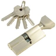 Цилиндровый механизм PLP NW80 английский ключ/вертушка SN Матовый никель