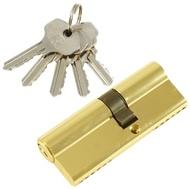 Цилиндровый механизм PLP N45/35 английский ключ/ключ PB Полированная латунь