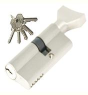 Цилиндровый механизм PLP NW30/40 английский ключ/вертушка SN Матовый никель