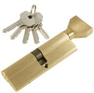 Цилиндровый механизм PLP NW100 английский ключ/вертушка SN Матовый никель