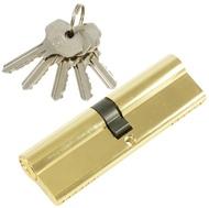 Цилиндровый механизм PLP N100 английский ключ/ключ PB Полированная латунь