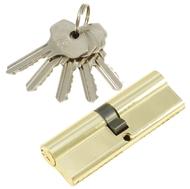 Цилиндровый механизм PLP N90 английский ключ/ключ PB Полированная латунь