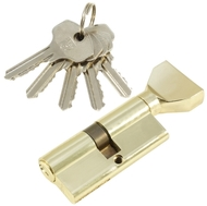Цилиндровый механизм PLP NW70 английский ключ/вертушка PB Полированная латунь