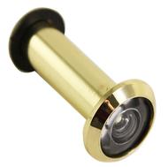 Глазок дверной MAXI Locks DV2-5075-PB с резинкой 50-75мм Полированная латунь