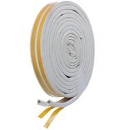 Уплотнитель D-образный 1м/пог. белый 9х8мм