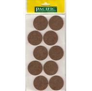 Войлочные накладки круглые PC6145 BR для мебельных ножек 45мм