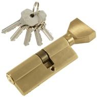 Цилиндровый механизм PLP NW35/45 английский ключ/вертушка SN Матовый никель