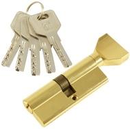 Цилиндровый механизм PLP CW80 перфо.ключ-вертушка PB Полированная латунь