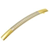 Ручка мебельная 2687-2173 128mm PB/SN Полированная латунь/Матовый никель