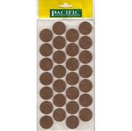 Войлочные накладки круглые PC6128 BR для мебельных ножек 28мм