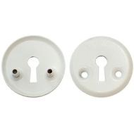 Накладка под флажковый ключ для финских дверей 3076 WW Белый