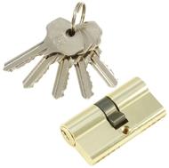 Цилиндровый механизм PLP N60 английский ключ/ключ PB Полированная латунь