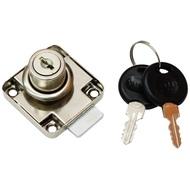 Замок мебельный 138-22 Пластиковый ключ YZ Хром