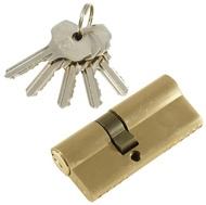 Цилиндровый механизм PLP N40/30 английский ключ/ключ SN Матовый никель