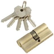 Цилиндровый механизм PLP N70 английский ключ/ключ AB Бронза